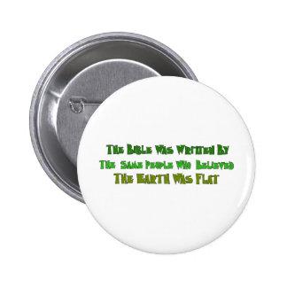 Historiens plats de la terre badge rond 5 cm
