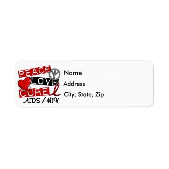 HIV de SIDA de traitement d'amour de paix Étiquettes D'adresse Retour