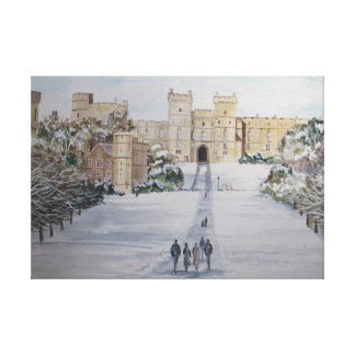 Hiver au château de Windsor Toile