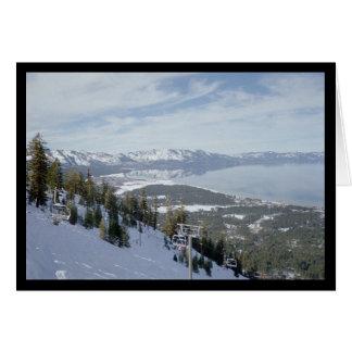 Hiver dans la chanson de Tahoe- du solénoïde. Carte De Vœux