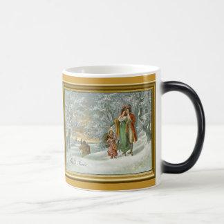 Hiver dans la forêt copie vintage tasse à café