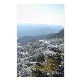 Hiver de Blue Ridge Mountains Papeterie