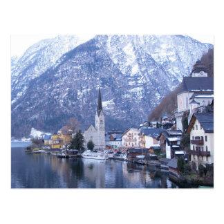 HIVER de carte postale de HALLSTATT AUTRICHE