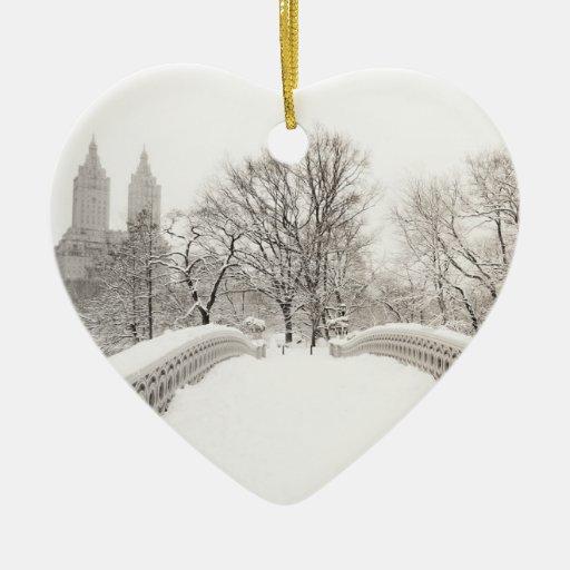 Hiver de Central Park Romance - pont d'arc Décorations De Noël