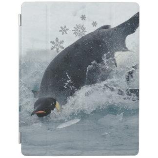 Hiver de flocon de neige de neige de bonhomme de protection iPad