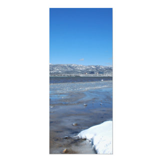 Hiver du lac Tahoe Carton D'invitation 10,16 Cm X 23,49 Cm