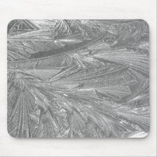 Hiver Frost en noir et blanc Tapis De Souris