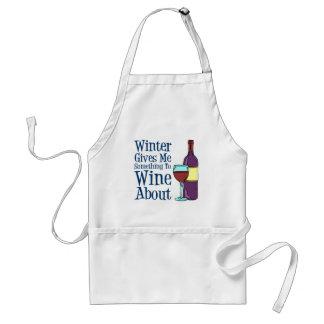 Hiver quelque chose Wine au sujet du tablier