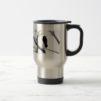 Hiver Raven Edgar Allan Poe de B&W Mug De Voyage