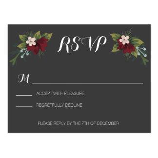 Hiver rustique épousant RSVP Cartes Postales