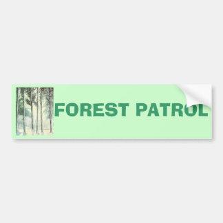 Hiver vintage, forêt givrée adhésifs pour voiture