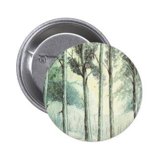 Hiver vintage, forêt givrée pin's avec agrafe