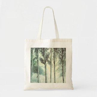 Hiver vintage forêt givrée sacs en toile