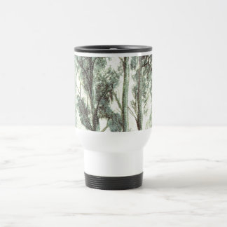 Hiver vintage forêt givrée tasse à café