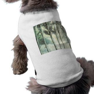 Hiver vintage forêt givrée manteau pour chien