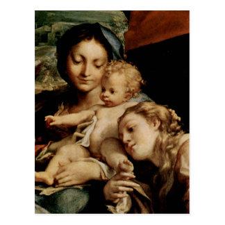 Hl de DES de Correggio Madonna. Hieronymus Carte Postale