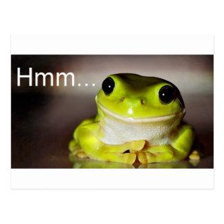 Hmm grenouille carte postale