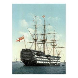 HMS Victory, Portsmouth, Angleterre c.1895 Carte Postale