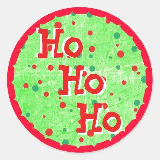 Ho Ho Ho autocollants rouges et verts de Noël