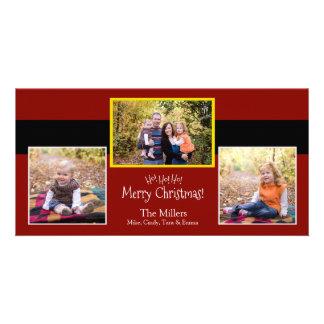 Ho Ho Ho ! Carte photo de costume de Père Noël de Photocarte