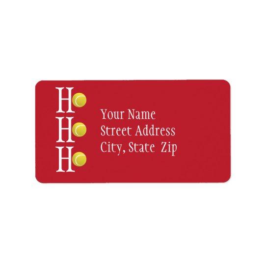 HO-HO-HO - étiquette de adresse personnalisé