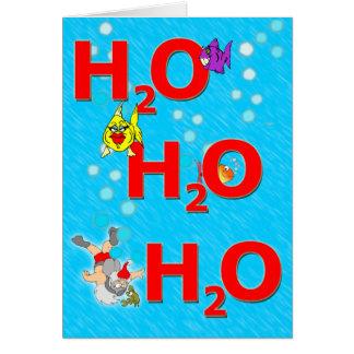 Ho Ho Ho sous l'eau carte de Noël
