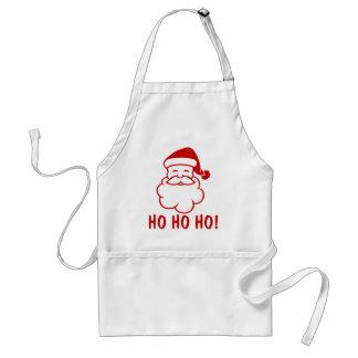 Ho Ho Ho tabliers de Noël avec le père noël drôle.