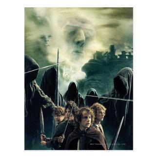Hobbits prêt à lutter carte postale