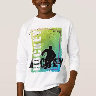 Hockey abstrait (garçon) t-shirt
