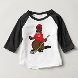Hockey de castor du Canada 150 en 2017 T-shirt Pour Bébé