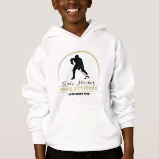 Hockey drôle de filles plus d'enfants d'attitude
