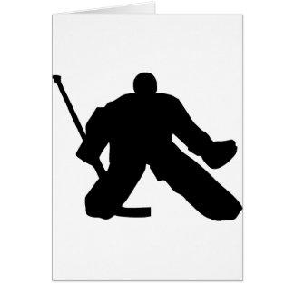 Hockey - gardien de but cartes