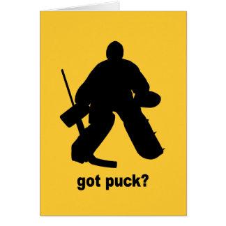 Hockey obtenu drôle de galet cartes