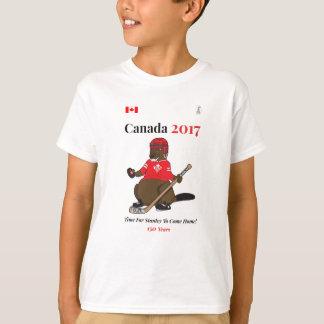 Hockey Stanley de castor du Canada 150 en 2017 T-shirt