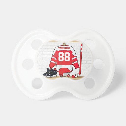 Hockey sur glace personnalisé Jersey Tétine Pour Bébé