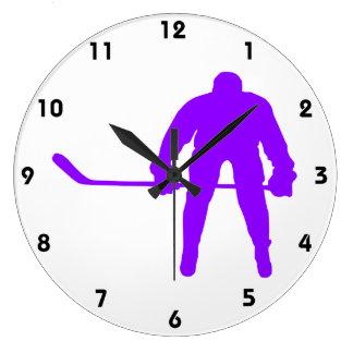 Hockey sur glace pourpre violet horloges