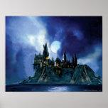 Hogwarts par clair de lune affiche