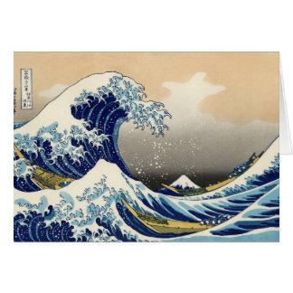 Hokusai la grande carte de voeux de vague