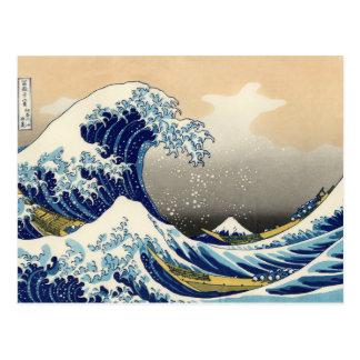 Hokusai la grande carte postale de vague