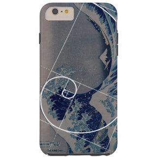 Hokusai rencontre Fibonacci, rapport d'or Coque Tough iPhone 6 Plus