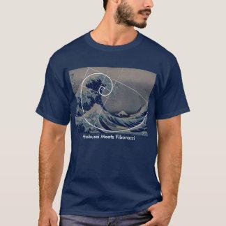 Hokusai rencontre Fibonacci, rapport d'or T-shirt