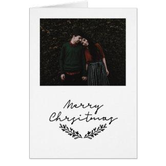 "#holidayz minimaliste de carte photo de ""Joyeux"