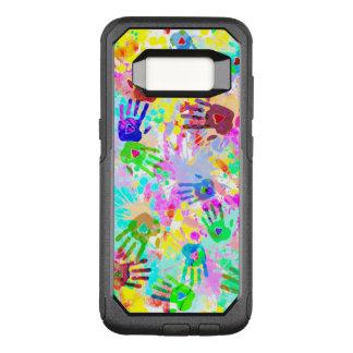 holiES - les mains éclabousse le motif grunge Coque Samsung Galaxy S8 Par OtterBox Commuter