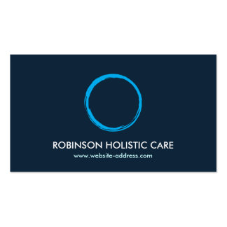 Holistique, Naturopath, guérisseur, logo II de zen Carte De Visite Standard