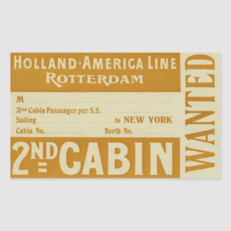Holland America Line Rotterdam Sticker Rectangulaire