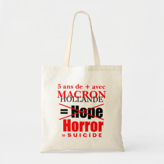 Hollande + Macron = Horror - Tote bag