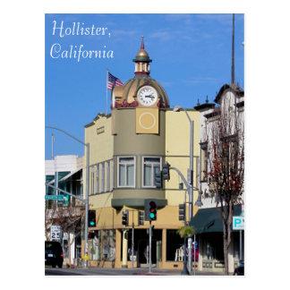 Hollister, tour d'horloge de CA Carte Postale
