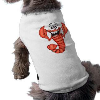 Homard de sourire drôle tee-shirt pour chien