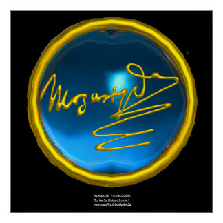 HOMMAGE À MOZART, taille colossale de saphir bleu Poster