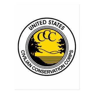 Hommage civil de corps de conservation de ccc carte postale